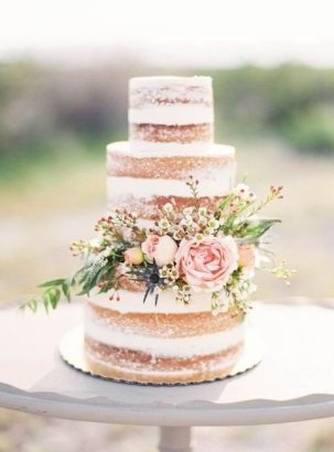 we would like, a semi naked cake